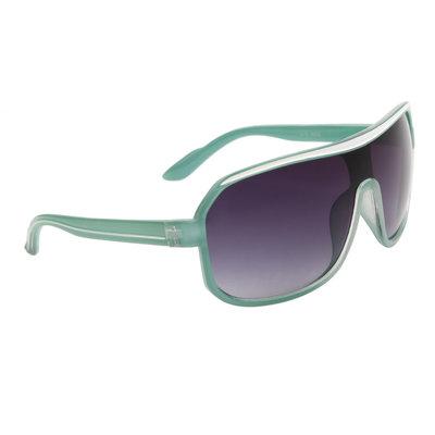 Aviator zonnebril, Sportief, Groen-wit