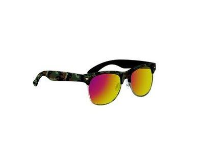 Clubmaster zonnebril Oklahoma, Legerprint, Donker groen