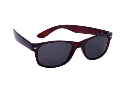 Polarized zonnebril, Detroit, Wayfarer bruin