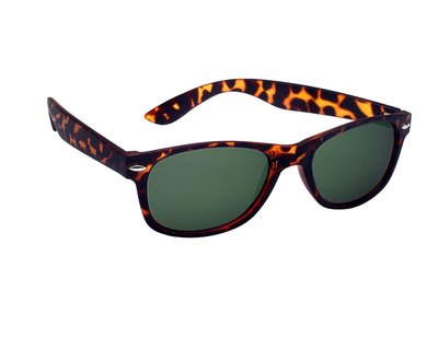 Polarized zonnebril, Detroit, Wayfarer luipaard print