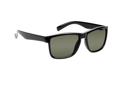 Polarized zonnebril, Jacksonville, Wayfarer zwart met lichte glazen