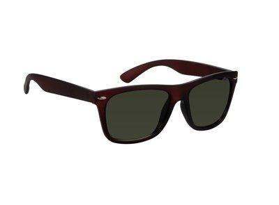 Gepolariseerde zonnebril, Columbus, Donker bruin met lichte glazen