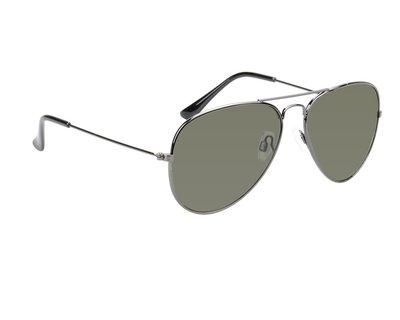 Gepolariseerde pilotenbril, Zonnebril Charlotte, Zwart met donkere glazen