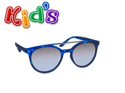 Kinder zonnebril, Boston, Blauw met grijze spiegelglazen