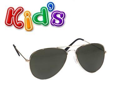 Kinder zonnebril, pilotenbril Denver, Zwart