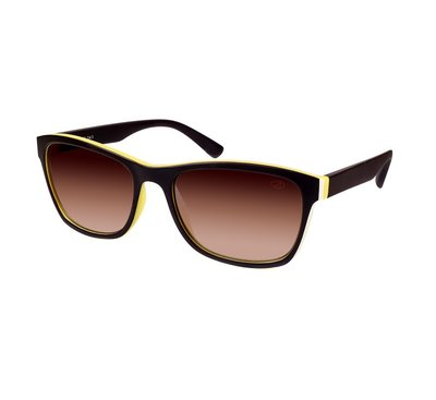 Ozzie zonnebril, Sacramento, Wayfarer, Bruin-Geel