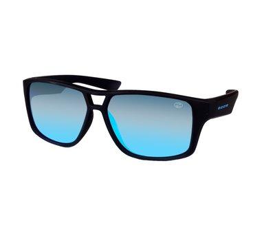 Ozzie zonnebril, Kansas, Sportief, Zwart met blauwe glazen