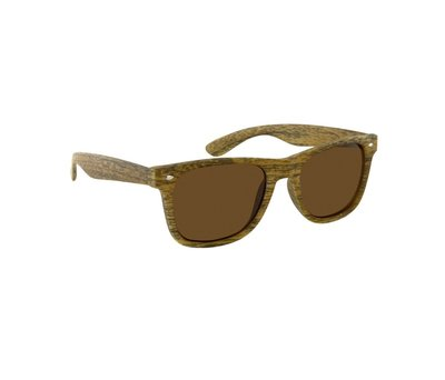 Houtlook wayfarer zonnebril, Santa Ana, Licht bruin