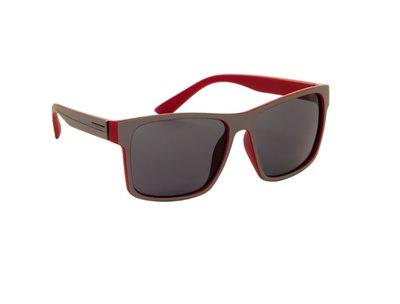 Gepolariseerde wayfarer zonnebril, Lissabon, Grijs-rood